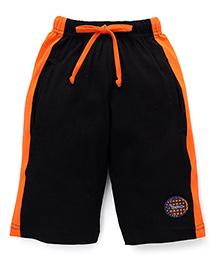 Taeko Three Fourth Bermuda Pants - Black Orange