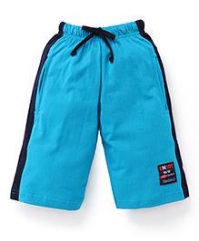 Taeko Three Fourth Track Pants - Blue Black