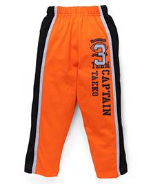 Taeko Full Length Track Pants - Orange Black