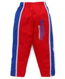 Taeko Full Length Kensington Print Track Pant - Red & Royal Blue