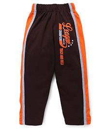 Taeko Full Length League Print Track Pant - Brown & Orange