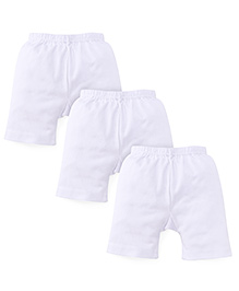 Dora Cycling Shorts Pack Of 3 - White