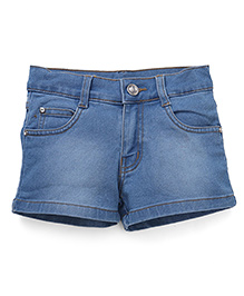 Babyhug Denim Shorts - Light Blue