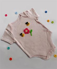 Dollops Of Sunshine Bee Onesie - Pink
