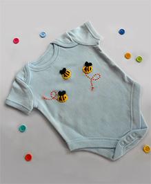 Dollops Of Sunshine Bee Onesie - Blue