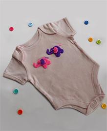 Dollops Of Sunshine Elephant Onesie - Pink