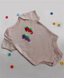 Dollops Of Sunshine Seahorse Onesie - Pink