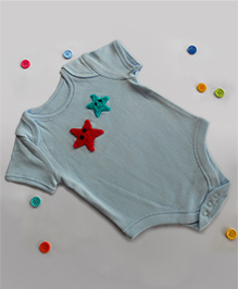 Dollops Of Sunshine Starfish Onesie - Blue