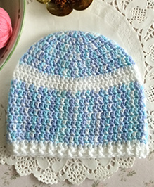 Buttercup From Knittingnani Shaded Cap - Blue & White