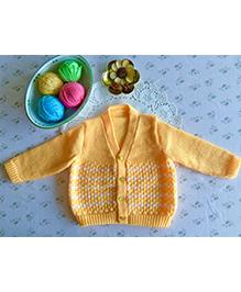 Buttercup From Knittingnani Full Sleeve Sweater In Tuck Pattern - Mango