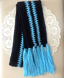 Buttercup From Knittingnani Striped Scarf - Midnight Blue
