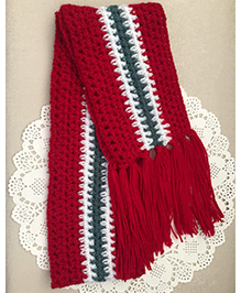 Buttercup From Knittingnani Striped Scarf - Red