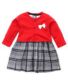 Wonderchild Chekered Print Dress With Jacket - Black & Red