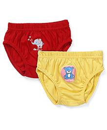 Babyhug Panties Pack of 2 -  Red Yellow