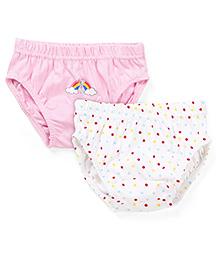 Babyhug Panties Pack of 2 -  White Pink