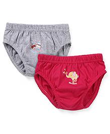 Babyhug Panties Pack of 2 -  Grey Dark Pink