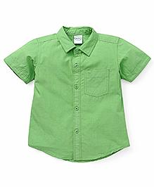Babyhug Half Sleeves Shirt Solid Color - Green