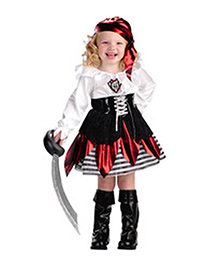 Teddy Guppies Full Sleeves Dress With Head Cover And Belt - Black Red