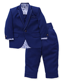 Robo Fry 4 Pieces Party Suit With Tie - Blue