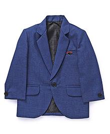 Robo Fry Full Sleeves Party Wear Blazer - Blue