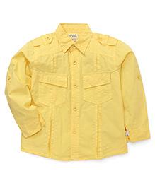 Olio Kids Full Sleeves Solid Shirt - Yellow