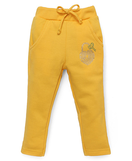 Olio Kids Lounge Pants Lock And Key Detailing - Yellow