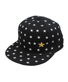 Little Cuddle Star Print Cap - Black