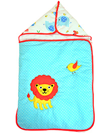 The Button Tree Jungle Pals Sleeping Bag - Pink & Blue
