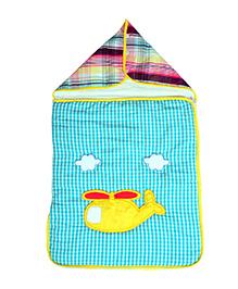 The Button Tree Helicap Go Sleeping Bag - Blue & Multicolour