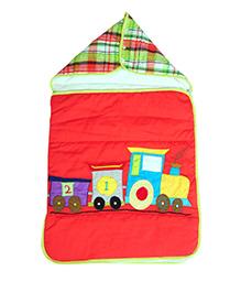 The Button Tree Joy Ride Sleeping Bag - Red & Multicolour