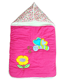 The Button Tree Spring Time Sleeping Bag - Pink & Multicolour