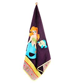The Button Tree Girl & Fish Print Towel - Multicolour