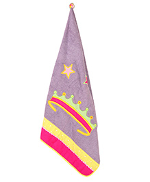 The Button Tree Princess Shine A Towel - Purple & Multicolour