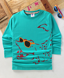 Tonyboy Fluo Croc Printed Full Sleeve T-Shirt - Light Blue