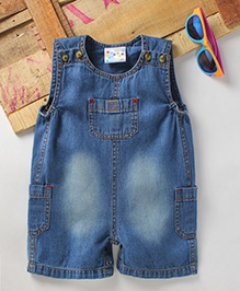 Eimoie Girls Casual Denim Dungaree - Blue