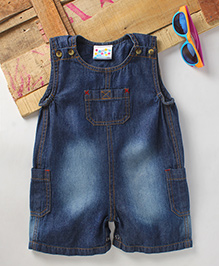 Eimoie Girls Casual Denim Dungaree - Indigo
