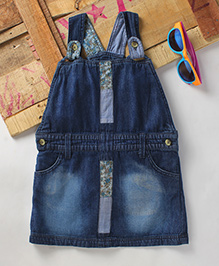 Eimoie Girls Casual Denim Dress - Indigo