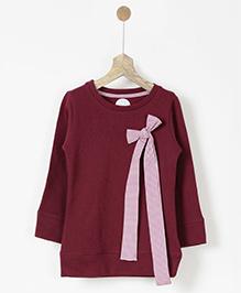 Pluie Sweatshirt With Bow - Maroon