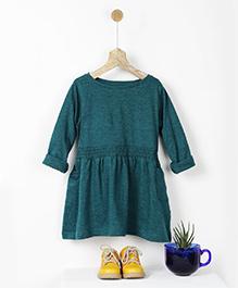 Pluie Smocked T-Shirt Dress - Teal Green