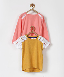 Pluie Set Of Two Tees - Peach & Yellow