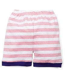 Snuggles Stripe Shorts - Light Pink