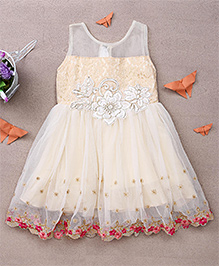 Eiora Trendy Dress With Beautiful Color Combination - Fawn