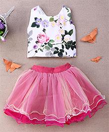 Eiora Partywear Skirt & Top Set - Multicolor