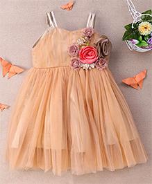 Eiora Sleeveless Trendy Dress - Gold