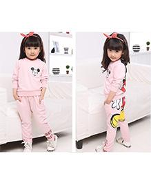 Wonderland Cute Top & Pant  Winter Set - Pink