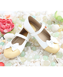 LCL Belly Shoes With Velcro Closure - White