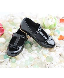 LCL Belly Shoes Bow Applique - Black