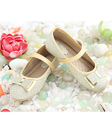 LCL Party Wear Belly Shoes Bow Applique - Silver