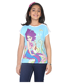 Imagica Half Sleeves T-Shirt - White Blue