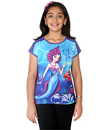 Imagica Half Sleeves T-Shirt - Purple